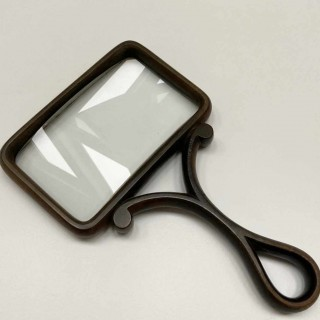 Victorian Celluloid Desk Magnifying Glass in Case by CW Dixey London
