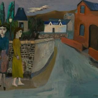 'Waiting at the Corner' by Simon Quadrat PPRWA NEAC (born 1946)
