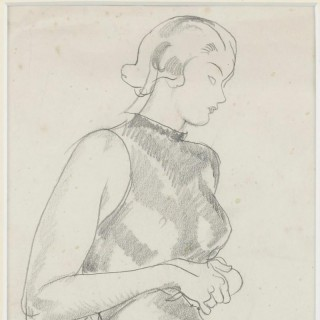 'Deep in Thought' by Steven Spurrier RA RBA ROI (1878-1961)