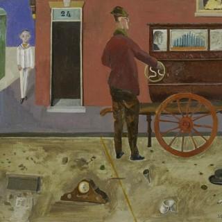 'The Street Organ' by Simon Quadrat PPRWA NEAC (born 1946)