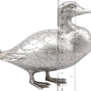 Sterling Silver Duck Ornament - Vintage Elizabeth II (1967)