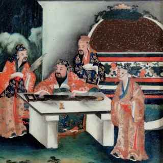 A Good Early 20th Century Chinese Reverse Glass Painting