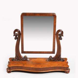 A Good Late 19th Century Mahogany Dressing Mirror