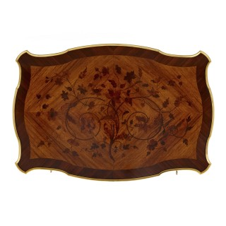 Louis XV style gilt bronze and marquetry desk attributed to Zwiener