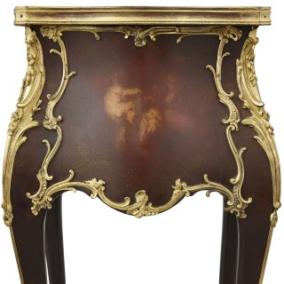 Rococo style side table with vernis Martin decoration and gilt bronze mounts