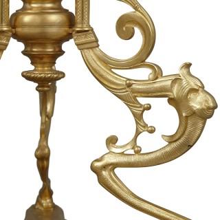 Royal Vienna porcelain and gilt bronze circular side table