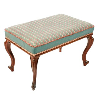 Victorian Oblong Rosewood Stool