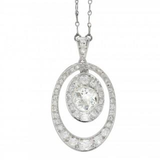 Edwardian diamond pendant, circa 1915.