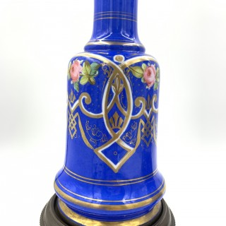 BLUE OPALINE OIL LAMPS FOR THE TURKISH MARKET, FRANCE,19TH CENTURY