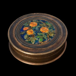 An Ernestine Mills' arts and crafts enamel  box