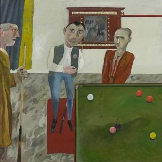 'The Snooker Players' by Simon Quadrat PPRWA NEAC (born 1946)