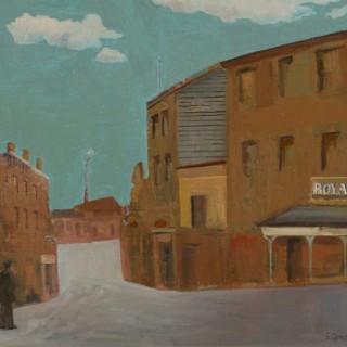 'The Royal Hotel' by Simon Quadrat PPRWA NEAC (born 1946)