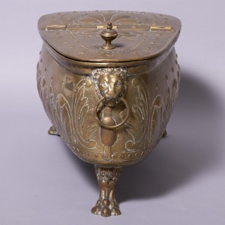 19th C Dutch Brass Wine Cooler / Container
