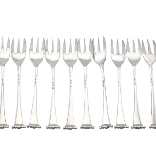 Sterling Silver Hors D'oeuvre Forks - Antique Victorian (1891)