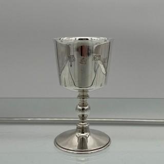 Modern Sterling Silver Suite Eight Wine Goblets Birmingham 1973 Barker Ellis Silver & Co