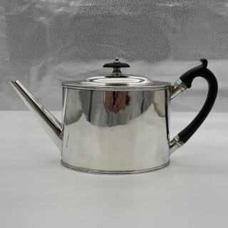 Antique George III Sterling Silver Teapot London 1788 William Vincent