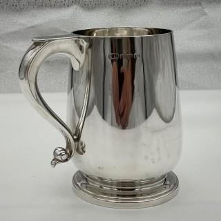 George V Sterling Silver Pint Mug Birmingham 1929 Suckling Ltd