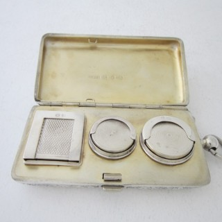Antique Victorian Sterling Silver Combination Sovereign/Stamp Case - 1896