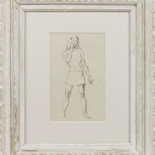 'Dressed for Tennis' by Steven Spurrier RA RBA ROI (1878-1961)
