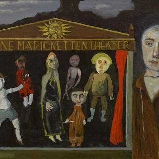 'The Marionette Theatre' by Simon Quadrat PPRWA NEAC (born 1946)