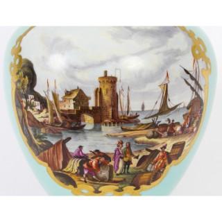 Antique Pair Helena Wolfsohn Dresden Porcelain Vases Provenance 19th C