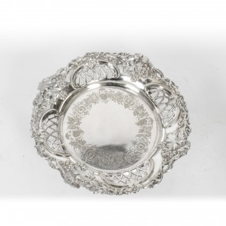 Antique Silver Plated Old Sheffield Wine Coaster C1820 19th Century