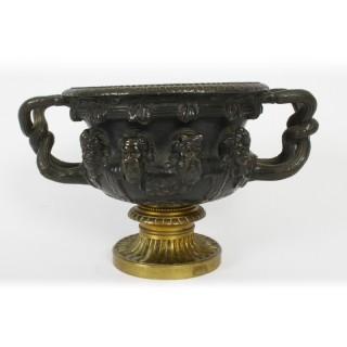 Antique French Grand Tour Bronze & Ormolu Urn 19th Century