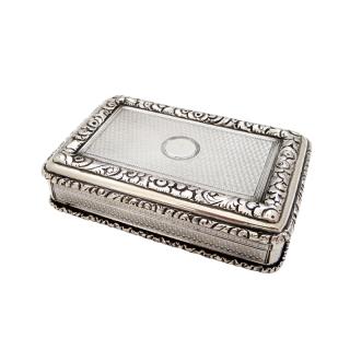 Antique Victorian Sterling Silver Snuff Box 1844