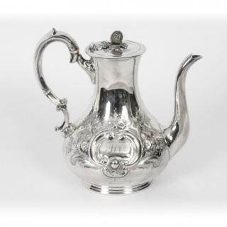 Antique Victorian Silver Plated Coffee Pot Boardman Glossop & Co 19th Century