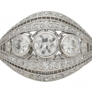 Antique diamond cluster ring by J.E.Caldwell, American, circa 1910.