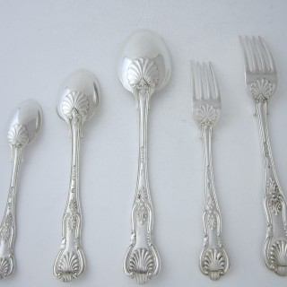 Antique Victorian Sterling Silver Canteen of Cutlery - 1891-1896