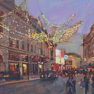 'Christmas Lights, Piccadilly' by Luke Martineau (born 1970)