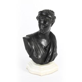Antique Pair Italian Grand Tour Bronze Busts Apollo & Diana 19th C