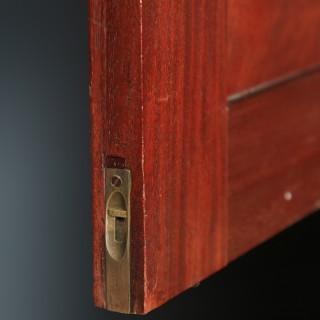 Antique English Georgian Figured Mahogany Linen Press Chest Wardrobe (Circa 1800)