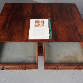 Antique Regency Rosewood Sofa Table