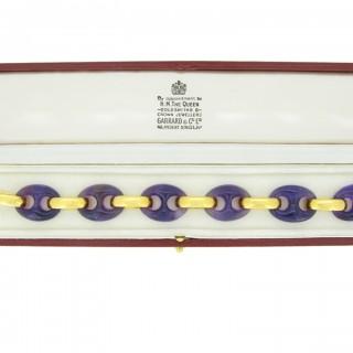 Garrard & Co. amethyst bracelet, English, circa 1974.