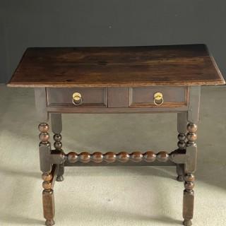 17th Century oak side table