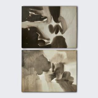 Paul Shusaku Foujino, Untitled Composition, Ink Wash, C. 1960
