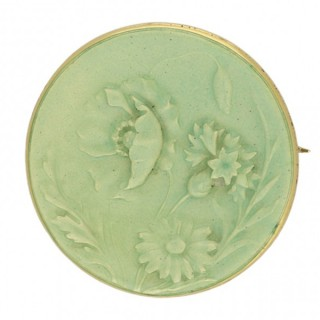 Maison Vever Paris enamel and gold brooch, French, circa 1900.