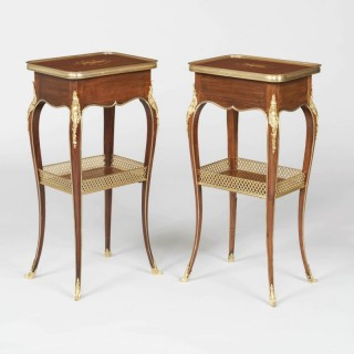 A Matched Pair of Tables Ambulantes By Henry Dasson