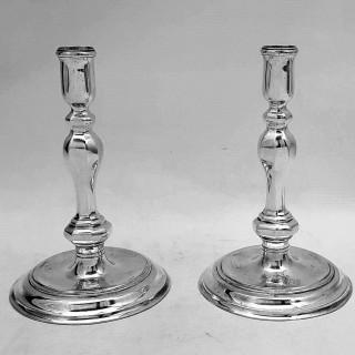 Queen Anne Silver Candlesticks