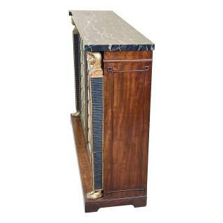 Regency 19th Century English Mahogany & Parcel Gilt Side Cabinet