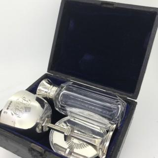 Travelling Silver Communion Set