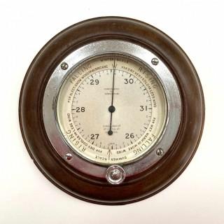 Early Twentieth Century Wall Aneroid Barometer by Chadburns Ltd Liverpool