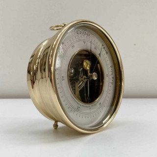 Victorian Desktop Aneroid Barometer by Carpenter & Westley Engraved to The Reverend Henry Walford