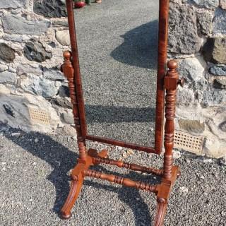 Fine Quality Georgian Mahogany Cheval Mirror