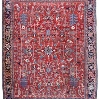 Fine Antique Heriz carpet