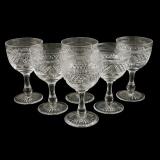 Six Edinburgh Crystal Port Glasses