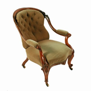 Victorian Rosewood Gent's Arm Chair