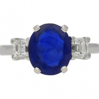 Burmese sapphire and diamond ring, circa 1950.